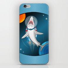 shark in space iPhone & iPod Skin