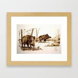 Jabalies Framed Art Print