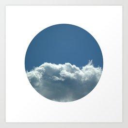 Blue+White Art Print