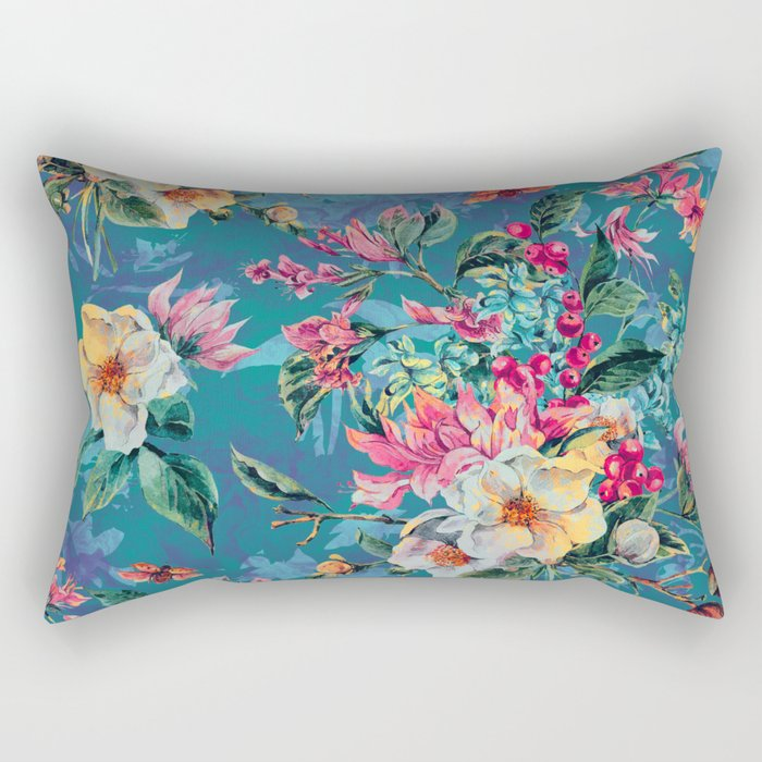 Floral Ocean III Rectangular Pillow