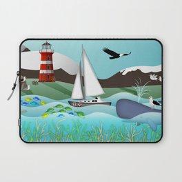 Coastal Sailing - Nautical Landscape Scene Laptop Sleeve