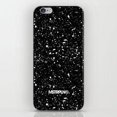 Retro Speckle Print - Black iPhone & iPod Skin