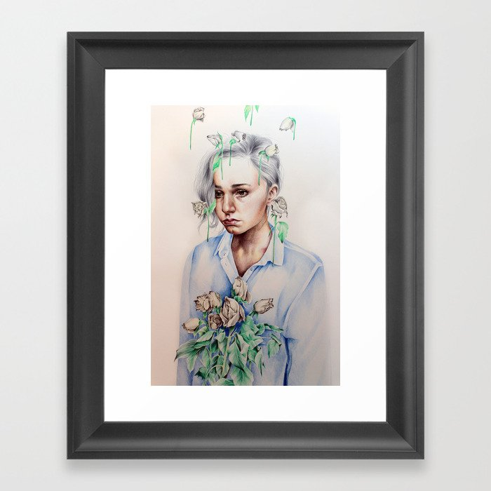 In Gloom/In Bloom Framed Art Print