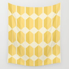 Zola Hexagon Pattern - Golden Spell Wall Tapestry