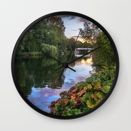 The Thames At Pangbourne Wall Clock