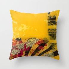 YELLOW 3 Throw Pillow