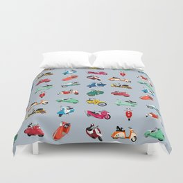 Boogie On Scooters Duvet Cover