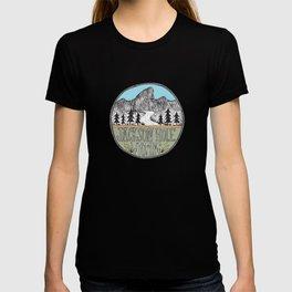 Jackson Hole circle illustration T-shirt