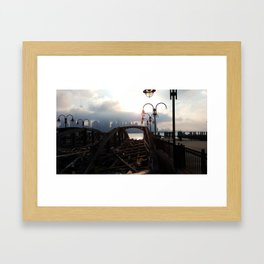 old and new Framed Art Print