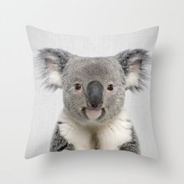 Koala 2 - Colorful Throw Pillow