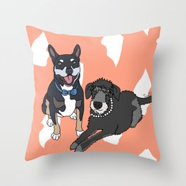 Dougie and Frankie Throw Pillow