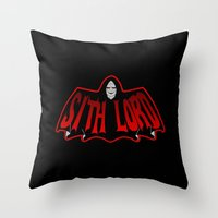 sith Throw Pillows featuring Sith Lord by Buby87