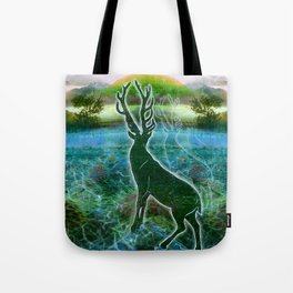 Garden of the Glitch Valley Stag Tote Bag