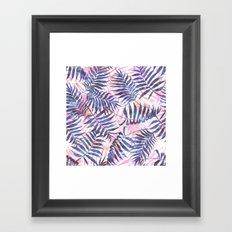 Reeya Tropical {periwinkle} Framed Art Print