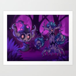 Ghost tree pokes Art Print