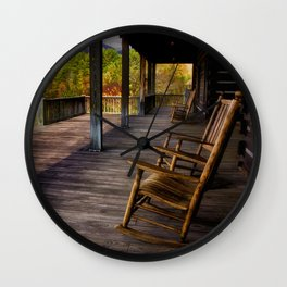 Back Porch View Wall Clock