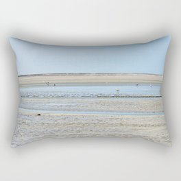 A flock of seagulls in the bay Rectangular Pillow