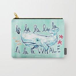 FA LA LA WHALE Coastal Holiday Print Carry-All Pouch