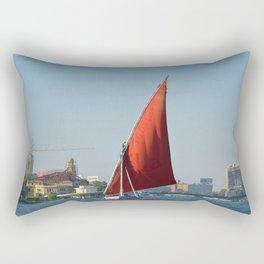 Felucca In Cairo Rectangular Pillow
