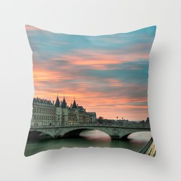 Paris by night France Throw Pillow