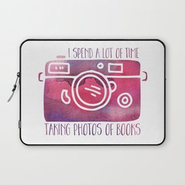 I Spend a Lot of Time Taking Photos of Books - Purple Laptop Sleeve