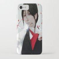 kuroshitsuji iPhone & iPod Cases featuring Tutor Sebastian by Lalasosu2