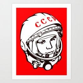 Yuri Gagarin astronaut, cosmonaut, pilot, CCCP, URSS, The first human in space Art Print