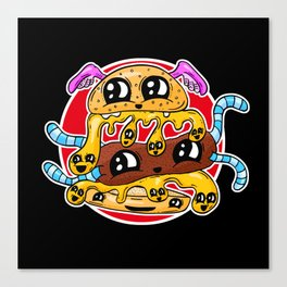 Fast Food FRENZY - The Burger Squeeb Mash Up! Canvas Print