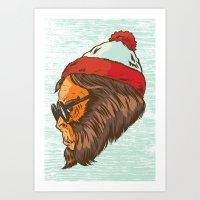 waldo Art Prints featuring Waldo Sasquatch  by Thomcat23