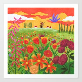 Flowers field Art Print