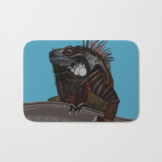 iguana blue Bath Mat