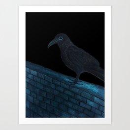 Raven Night Art Print