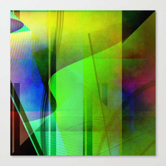 Multicolored abstract 2016 / 006 Canvas Print
