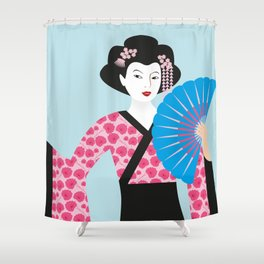 Geisha #2 Shower Curtain