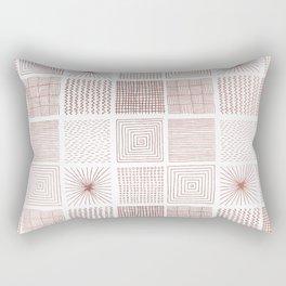Modern faux rose gold abstract geometrical pattern Rectangular Pillow