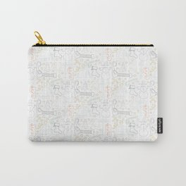 Christmas Doodles (Grey, Blue and Gold) Carry-All Pouch