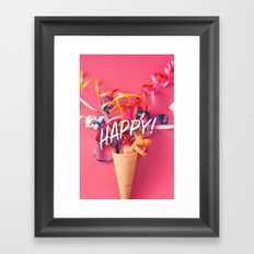 Happy! Framed Art Print