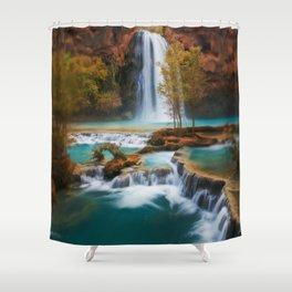 Havasu Falls Arizona Shower Curtain