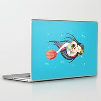 little mermaid Laptop & iPad Skins featuring Mermaid by Freeminds