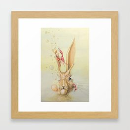 Hare Hypnosis Framed Art Print