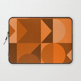 Desert Vibes Geometric Shapes in Terracotta and Burnt Orange Laptop Sleeve