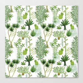 Green jungle pattern Canvas Print
