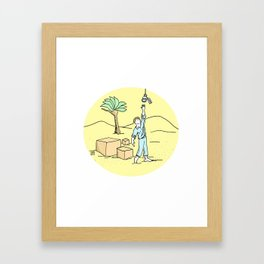 Frustrated Efforts Framed Art Print