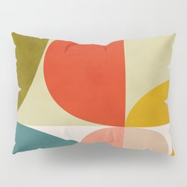 shapes of mid century geometry art Pillow Sham
