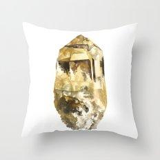 Raw Topaz Throw Pillow