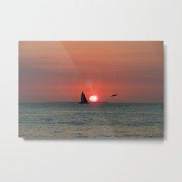 Key West at Sunset Metal Print