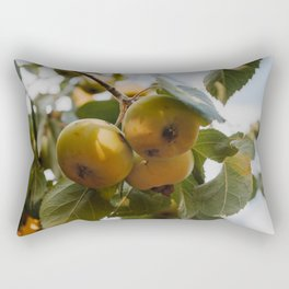 Green Apples on a Tree Rectangular Pillow