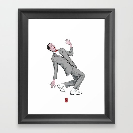 Pee Wee Herman #2 Framed Art Print
