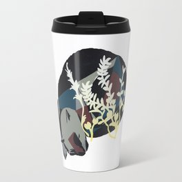 cat dreaming in meadow Travel Mug