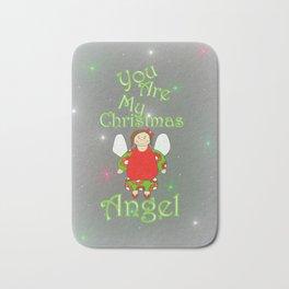 You Are My Christmas Angel Bath Mat